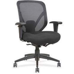Lorell Mid Back Chair, 28-1/8 in x 22-7/8 in x 41-3/4 in, Black