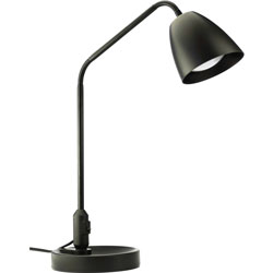 Lorell Desk Lamp, LED, 7-Watt, 6-9/10 inWx6-9/10 inLx20-9/10 inH, Black