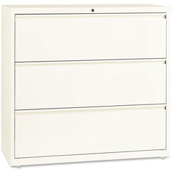 Lorell Lateral File, 3-Drawer, 42 in x 18 in x 40 in, Cloud