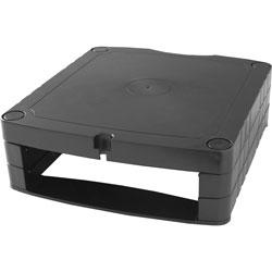 Lorell Monitor Riser,Adjustable,13-1/4 inx12-1/8 inx1-1/4 in-3-3/4 in,Black