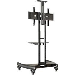 Lorell VSTC Flat Panel TV Mobile Cart, 32-60 in, Black