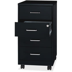 Lorell 4-Drawer Organizer, 14-1/4 in x 18 in x 26-1/2 in, Black