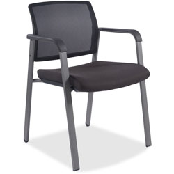 Lorell Guest Chair, 22-7/8 in x 22-5/8 in x 32-1/8 in, Mesh/Black