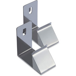 Lorell Cubicle Partition Hanger, 2Pcs/Set, Silver