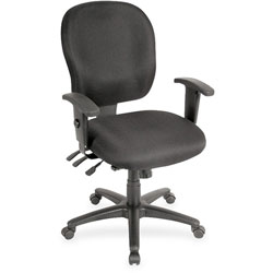 Lorell Desk Chair, 26 inx25 inx42-1/2 in, Black