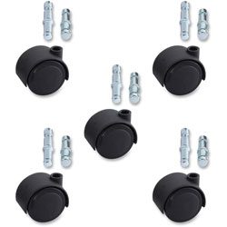 Lorell Soft Deluxe Casters, 5/ST, Black