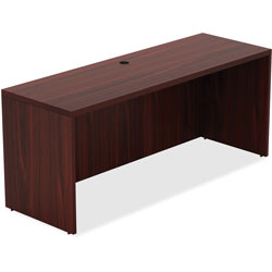 Lorell Top 1-1/2 in, Credenza 24' x 60 in x 30', Mahogany