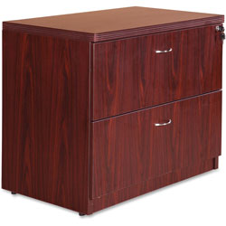 Lorell Top 1-1/2 in, Lateral 22 in x 35 in x 30 in, Mahogany