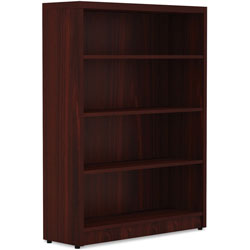 Lorell Top 1-1/2 in, Bookshelf 12-1/2 in x 36 in x 30 in, Mahogany