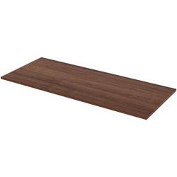 Lorell Height Adjustable Standard Tabletop, 30 in x 72 in, Walnut