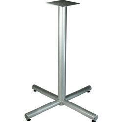 Lorell X-Leg Base, f/42 in Tabletop, Bistro-Height, 36 inx40-3/4 in, Silver