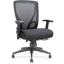 Lorell Mid Back Chair, 27 in x 25-5/8 in x 42-1/2 in, Black