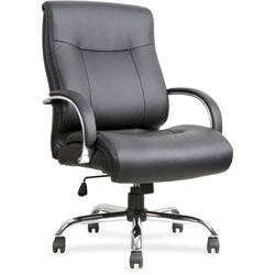 Lorell Chair, 450lb Capacity, 22-7/8 in x 30-1/4 in x 46-7/8 in, Black