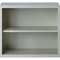 Lorell 2-Shelf Bookcase, Light Gray
