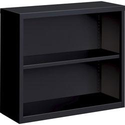 Lorell 2-Shelf Bookcase, Black