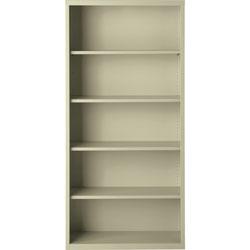 Lorell 5-Shelf Bookcase, Putty
