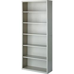 Lorell 6-Shelf Bookcase, Light Gray