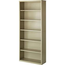 Lorell 6-Shelf Bookcase, Putty