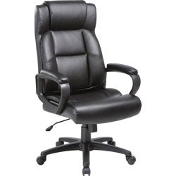 Lorell Executive Chair, High-Back, 29 inWx28-1/2 inLx46 inH, Black