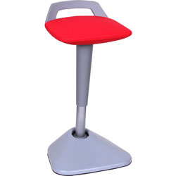 Lorell Pivot Chair, Height-Adjust, 16-1/7 in x 15-3/8 in x 26-3/4 in-36 in, Red