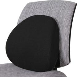 Lorell Lumbar Back Support, Foam, 15 in x 13-1/8 in x 4-1/2 in, Black