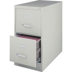 Lorell Vertical File, 22 in Deep, Comm, 2-Drawer, 15 in x 22 in, 28 in, LGY