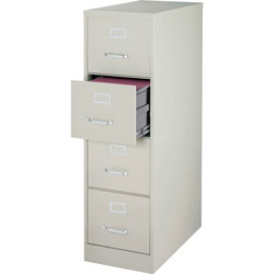 Lorell Vertical File, 22 in Deep, Comm, 4-Drawer, 15 in x 22 in x , 52 in, LGY