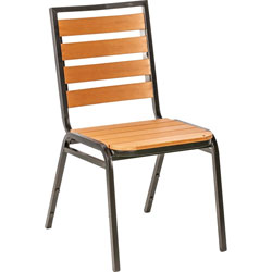 Lorell Chair, Outdoor, 18-1/2 inWx23-1/2 inLx35-1/2 inH, 4/CT, TK/BK