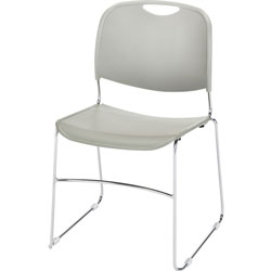 Lorell Wire Frame Stack Chair, 19 inx19 inx30 in, Gray