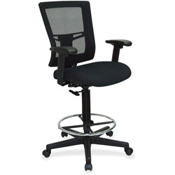 Lorell Drafting Stool Chair, 27 inx25 inx48 in, Black