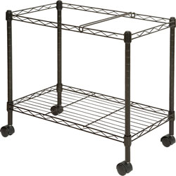 Lorell Mobile Filing Cart, Letter/Legal, 12-7/8 in x 25-3/4 in x 20-1/2 in, Black
