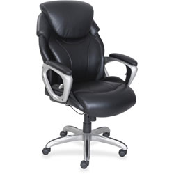 Lorell Executive Chair, 32-1/2 in x 28-1/2 in x 49 in, Black