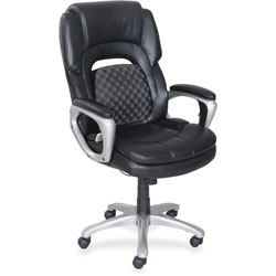 Lorell Accucel Executive Chair, 26-3/4 in x 30 in x 46-3/4 in, Black