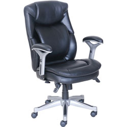 Lorell Accucel Executive Chair, 26-3/4 in x 30-1/2 in x 44-1/4 in, Black
