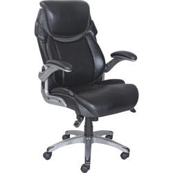Lorell Mesh Executive Chair, 27-3/4 in x 30 in x 46-3/4 in, Black