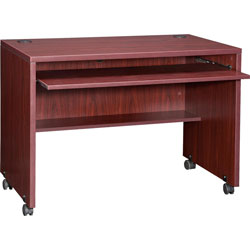 Lorell Computer Workstation, 41 3/8 in x 23 5/8 in x 29 1/2 in, Mahogany