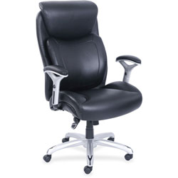 Lorell Big & Tall Chair w/Flexible Air Technology,400 lb. Capacity, 28-3/4 in x 31-1/4 in x 49 in, Black