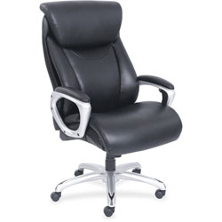 Lorell Big & Tall Chair, Heavy-duty Arms, 28-1/2 in x 31-1/2 in x 48-1/4 in, Black