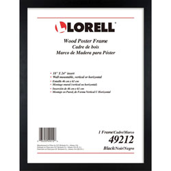Lorell Frame, Wood, Wall Display Only, 18 inWx24 inH, Black