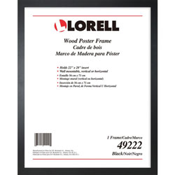 Lorell Poster Frame, Wall-Mountable, 22 inLx28 inH, Black