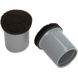Lorell Replacement Chair Tips with Felt, Gray