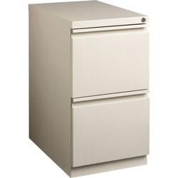 Lorell Mobile Pedestal File, 15 in x 19-7/8 in x 27-3/4 in, Deep Putty