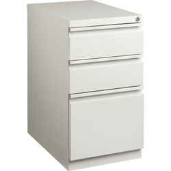 Lorell Mobile Pedestal File, 15 in x 22-7/8 in x 27-3/4 in, Light Gray