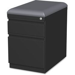 Lorell Mobile Seat Ped File, 15 inx19-7/8 inx23-3/4 in, Black