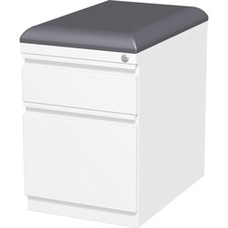 Lorell Mobile Seat Ped File, 15 inx19-7/8 inx23-3/4 in, White