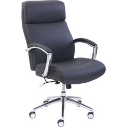 Lorell Chair, Active Lumber Technology, 25-1/4 inx31-1/2 inx45-3/4 in, Black