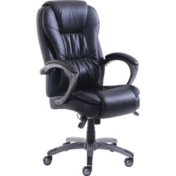 Lorell Chair, Massager, 25-3/4 inWx30-1/4 inLx48 inH, Black