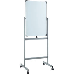 Lorell Whiteboard Easel, Double-Sided, Magnetic, 27-1/2 inx70 in