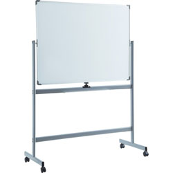 Lorell Whiteboard Easel, Double-Sided, Magnetic, 52 inx70 in
