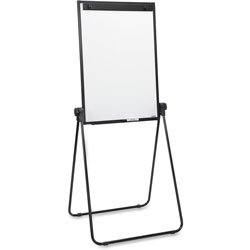 Lorell 2-Sided Dry Erase Easel, 24 in x 36 in x 67 in, Black